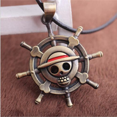 Vintage One Piece -  Luffy Skull Pendant Necklace Pirate -  - Free, Luffy, Onepiece, Pendant, Skull, Vintage