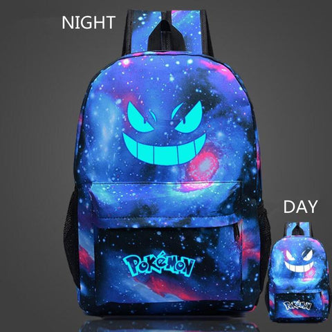 Pokémon Gengar Backpack Anime Luminous backpack - Backpack - SenpaiWares