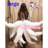 Lol Cosplay Ahri Tail - Nine-Tailed Adult Women Anime Halloween