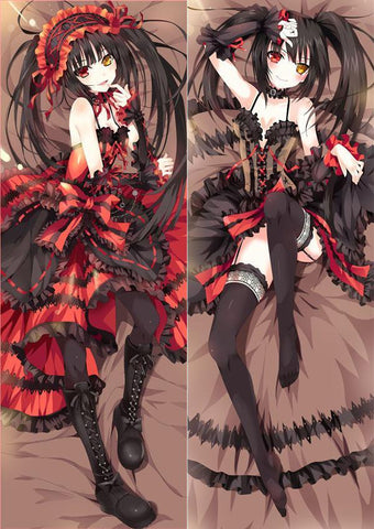 Tokisaki Kurumi Pillows Anime Hugging Body Pillow Case Tokisaki Kurumi ushion Double Printed Cover Animation Sexy Female -  - SenpaiWares