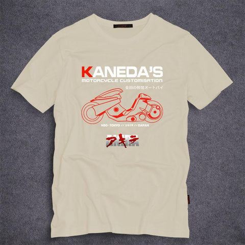 Akira - Kaneda's Motorcycle Men's Cotton Adult T-shirt S-5XL -  - SenpaiWares