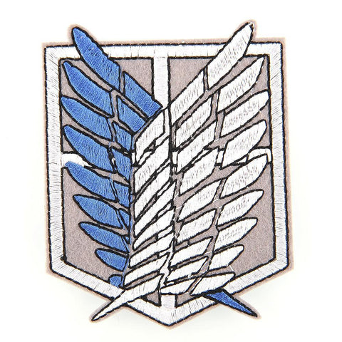 Shingeki no Kyojin - Attack on Titan Logo Emblem Embroidery Patch - Cosplay Costume - Fabric - aot, aotcosplay, Attack on Titan, attackontitan, attackontitancosplay, Embroidery, erenjaeger, erenxlevi, Fabric, heichou, heichoucosplay, leviackerman, leviackermancosplay, levicosplay, levicosplayer, leviheichou, levixeren, Patch, snk, snkcosplay