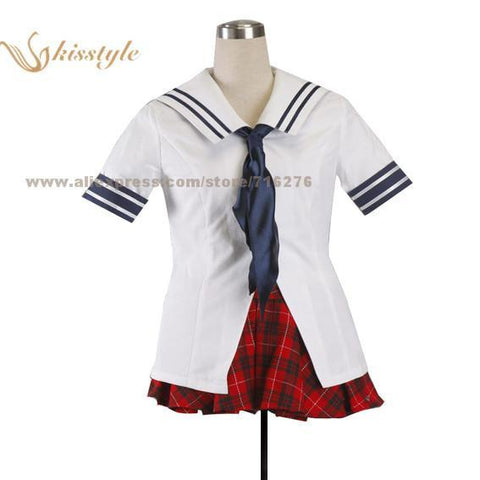 Kisstyle Fashion Battle Vixens Ikki Tousen Sailor 1G Uniform COS Clothing Cosplay Costume,Customized Accepted -  -