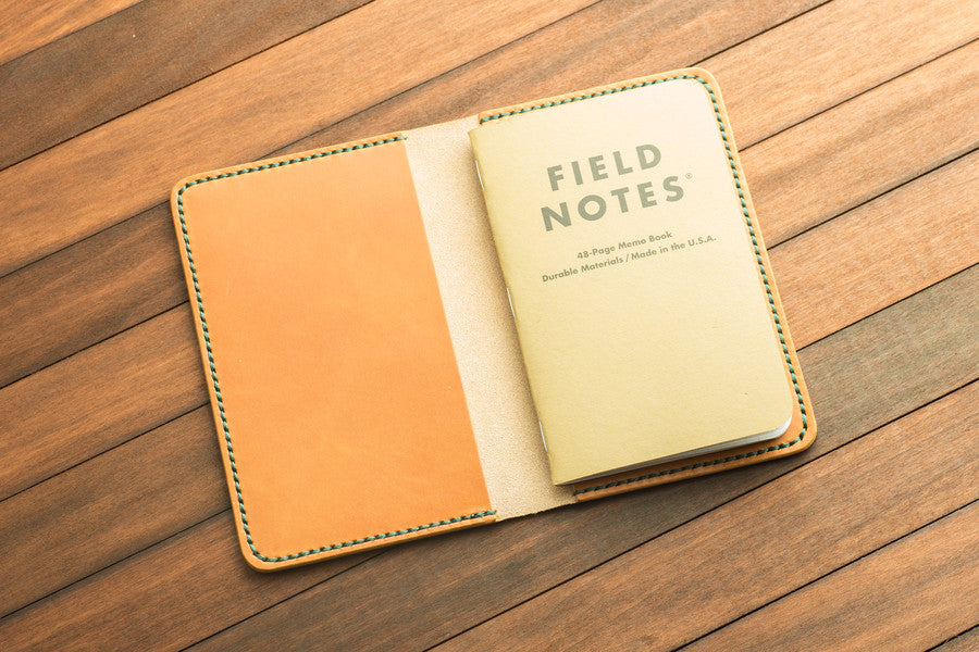 Chestnut Leather Field Notes Cover  Levart