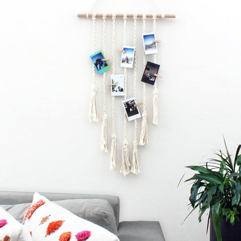 Macrame Wall Photo Hanger