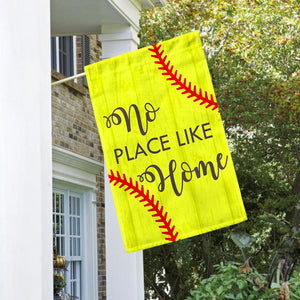 "No Place Like Home Softball House Flag 28"" x 40"" - Second East"