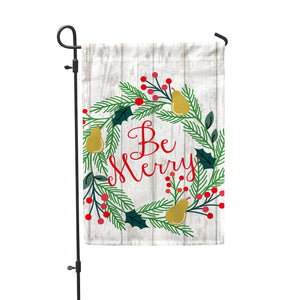 "Be Merry Garden Flag 12"" x 18"" - Second East"