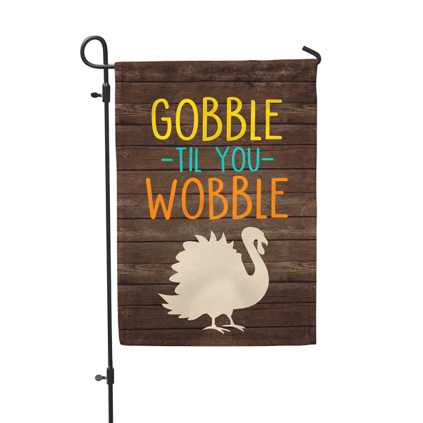 "Gobble Wobble Garden Flag 12"" x 18"" - Second East"