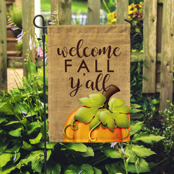 Welcome Fall Y'all Garden Flag - Second East