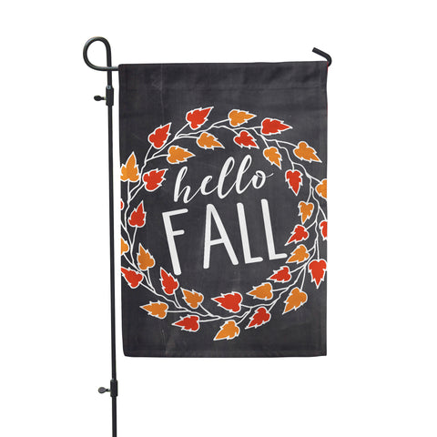 Hello Fall Chlk Garden Flags - Second East