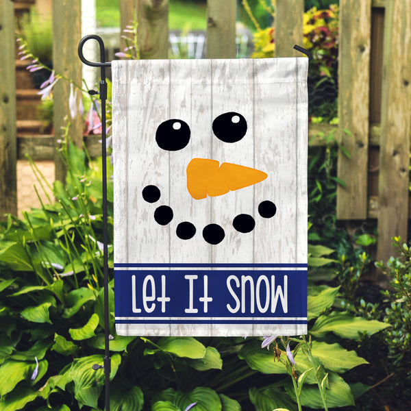"Let It Snowman Garden Flag 12"" x 18"" - Double Sided - Second East"