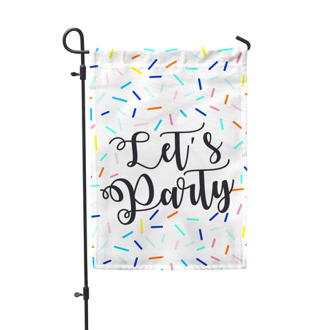Let's Party Garden Flag - Second East