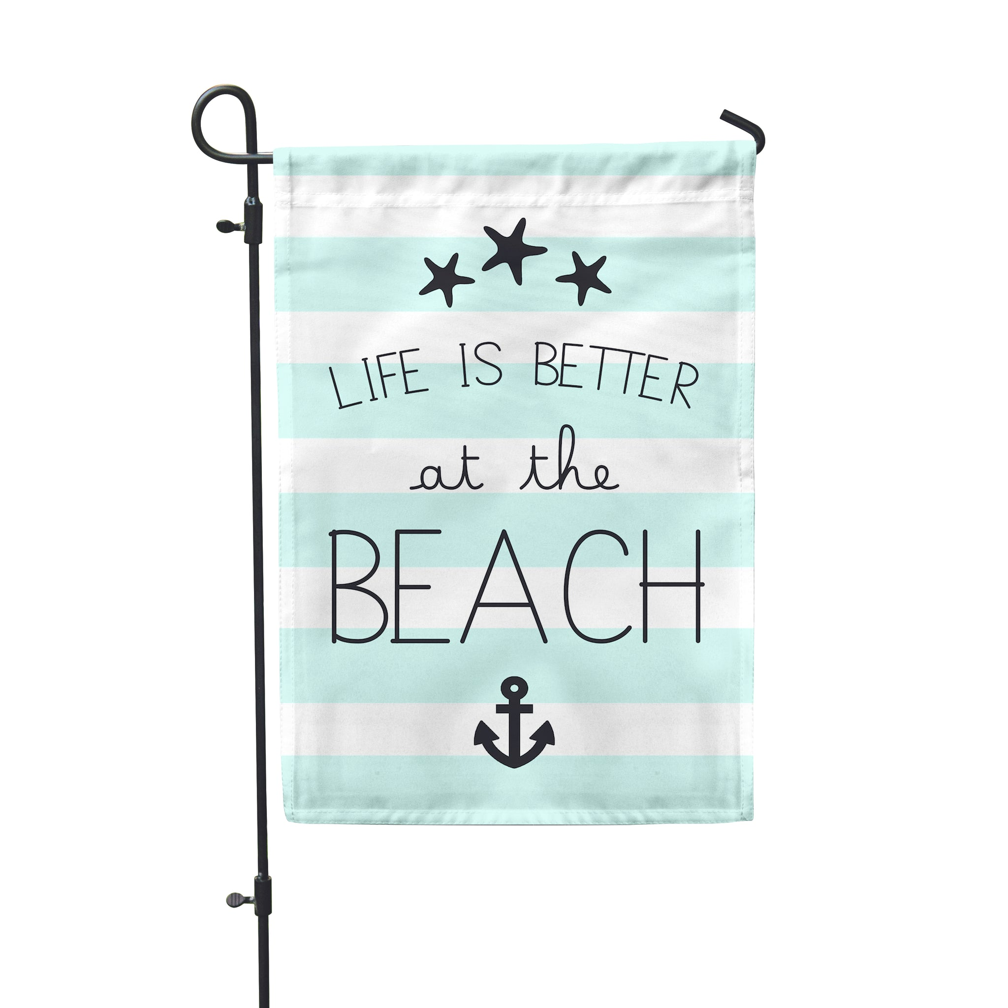 "Life Is Better Beach Garden Flag 12"" x 18"" - Double Sided - Second East"