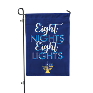 "Eight Nights Garden Flag 12"" x 18"" - Second East"
