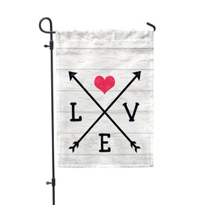 Love Arrows Garden Flag - Double Sided - Second East