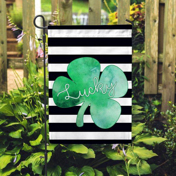 Lucky Shamrock Garden Flag - Double Sided - Second East