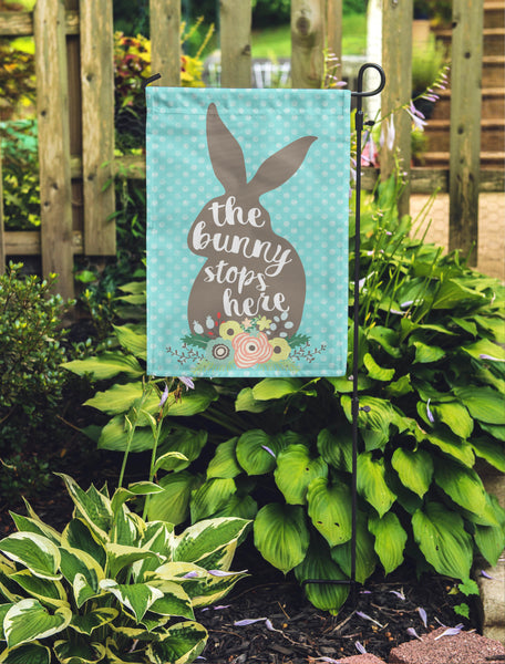 Bunny Stops Here Garden Flag - Double Sided - Second East