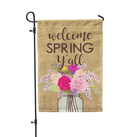 Welcome Spring Y'all Garden Flag - Second East