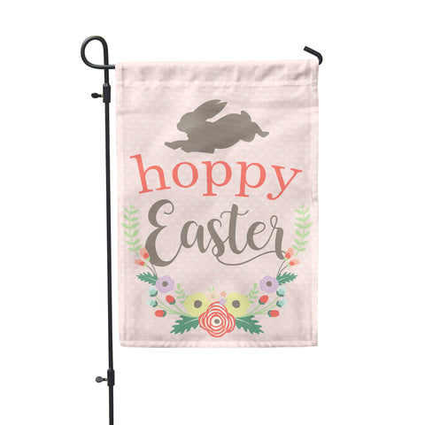 "Hoppy Easter Garden Flag 12"" x 18"" - Double Sided - Second East"