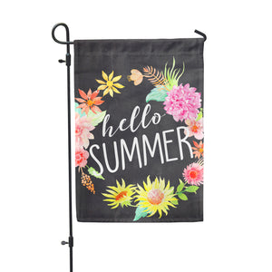 Hello Summer Chlk Garden Flag - Second East