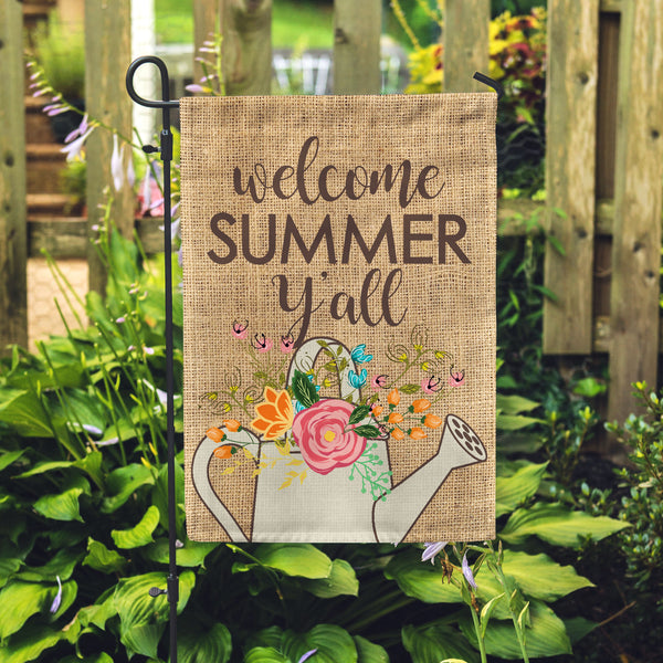 Welcome Summer Y'all Garden Flag - Second East