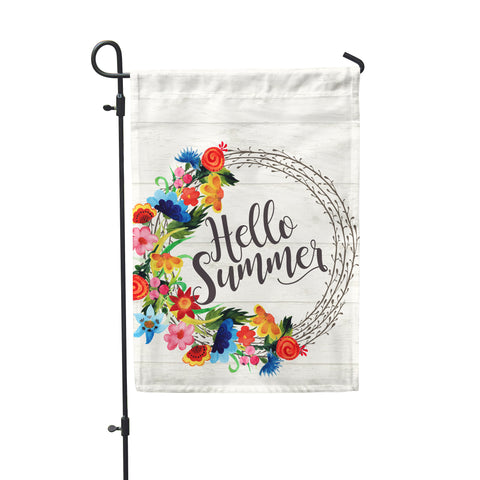 Hello Summer White Garden Flag - Second East