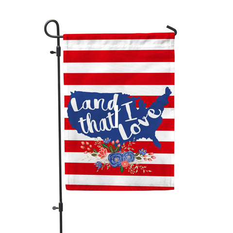 "Land I Love Garden Flag 12"" x 18"" - Double Sided - Second East"