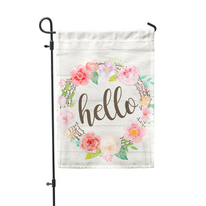 Hello Floral Garden Flag - Second East