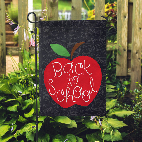 Back to School Garden Flag - Second East