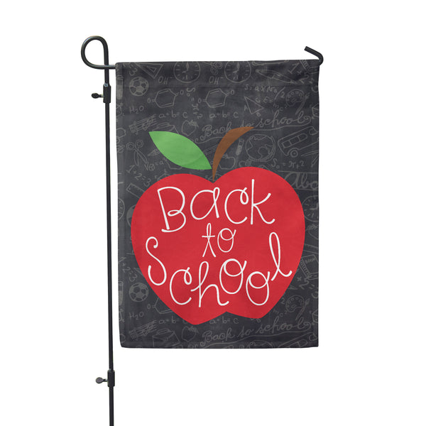 "Back to School Garden Flag 12"" x 18"" - Double Sided - Second East"