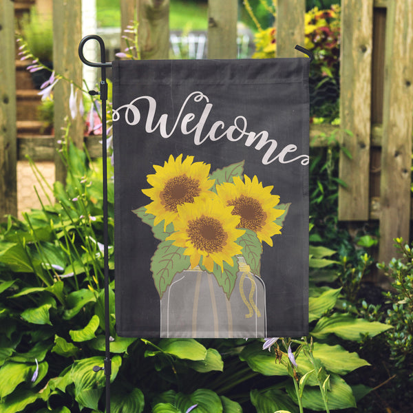 Sunflower Welcome Garden Flag - Second East