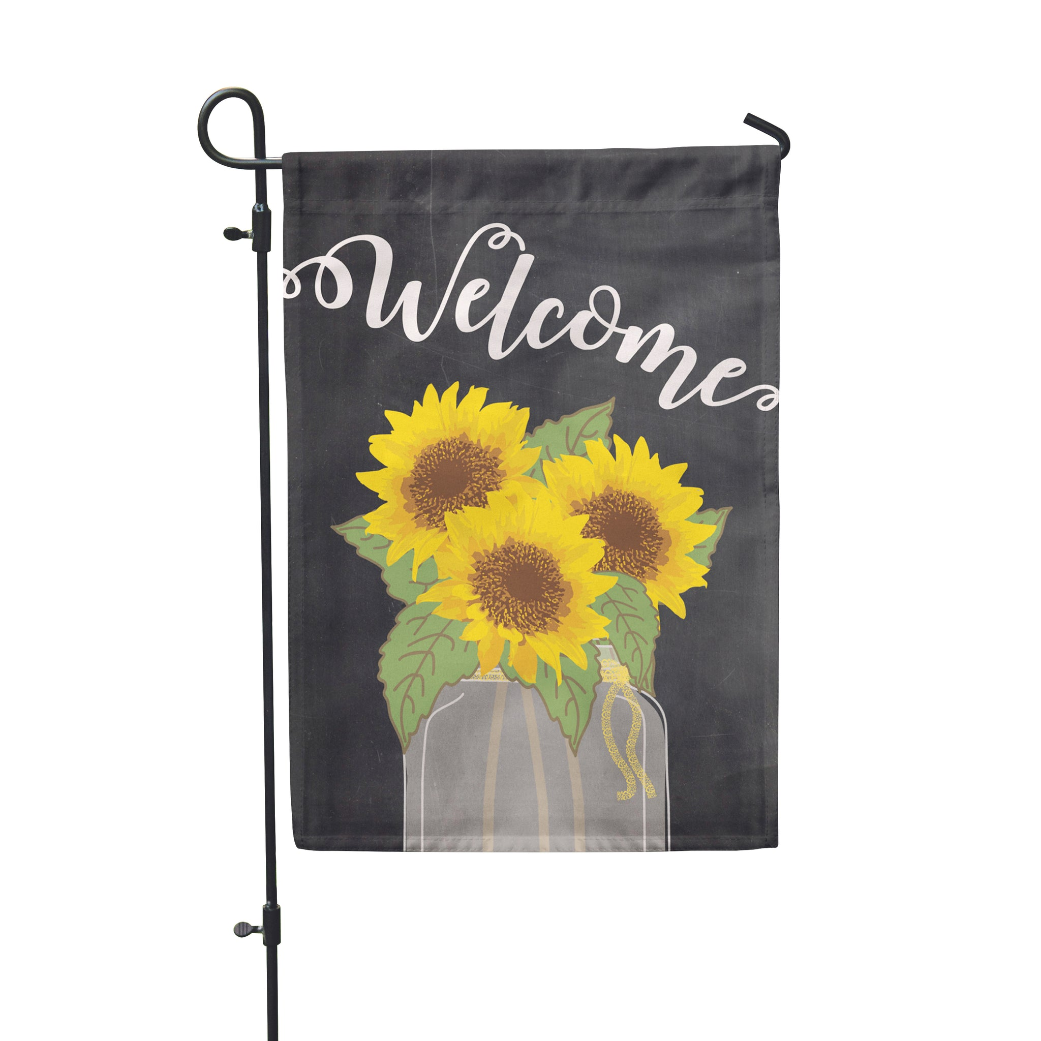 Sunflower Welcome Garden Flag - Double Sided - Second East