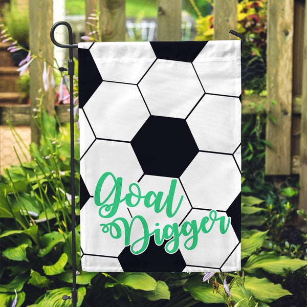 Soccer Goal Garden Flag - Second East