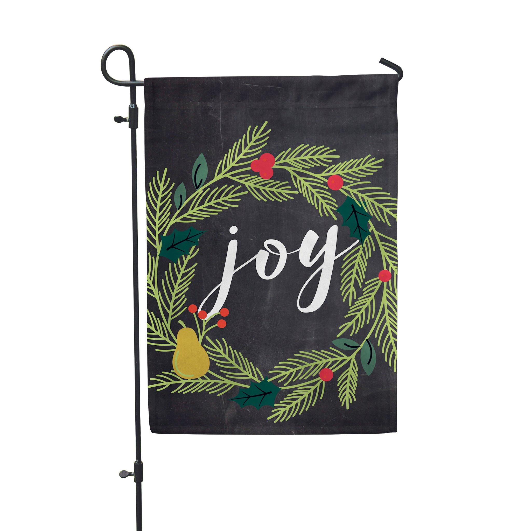 "Joy Wreath Garden Flag  12"" x 18"" - Second East"