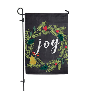Joy Wreath Garden Flag - Second East