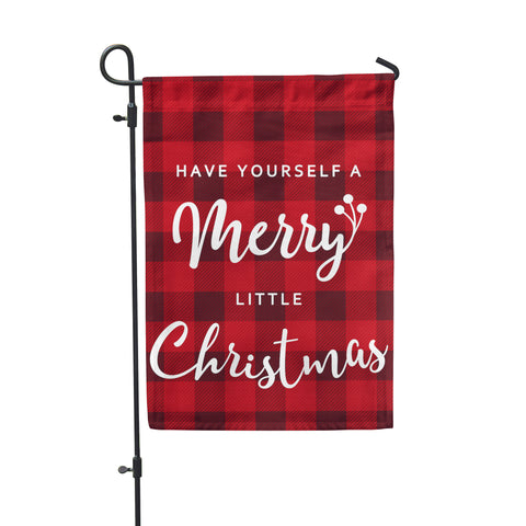 Merry Little Christmas Garden Flag - Second East