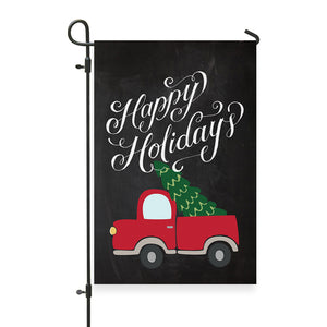 "Happy Holidays Garden Flag 12"" x 18"" - Second East"