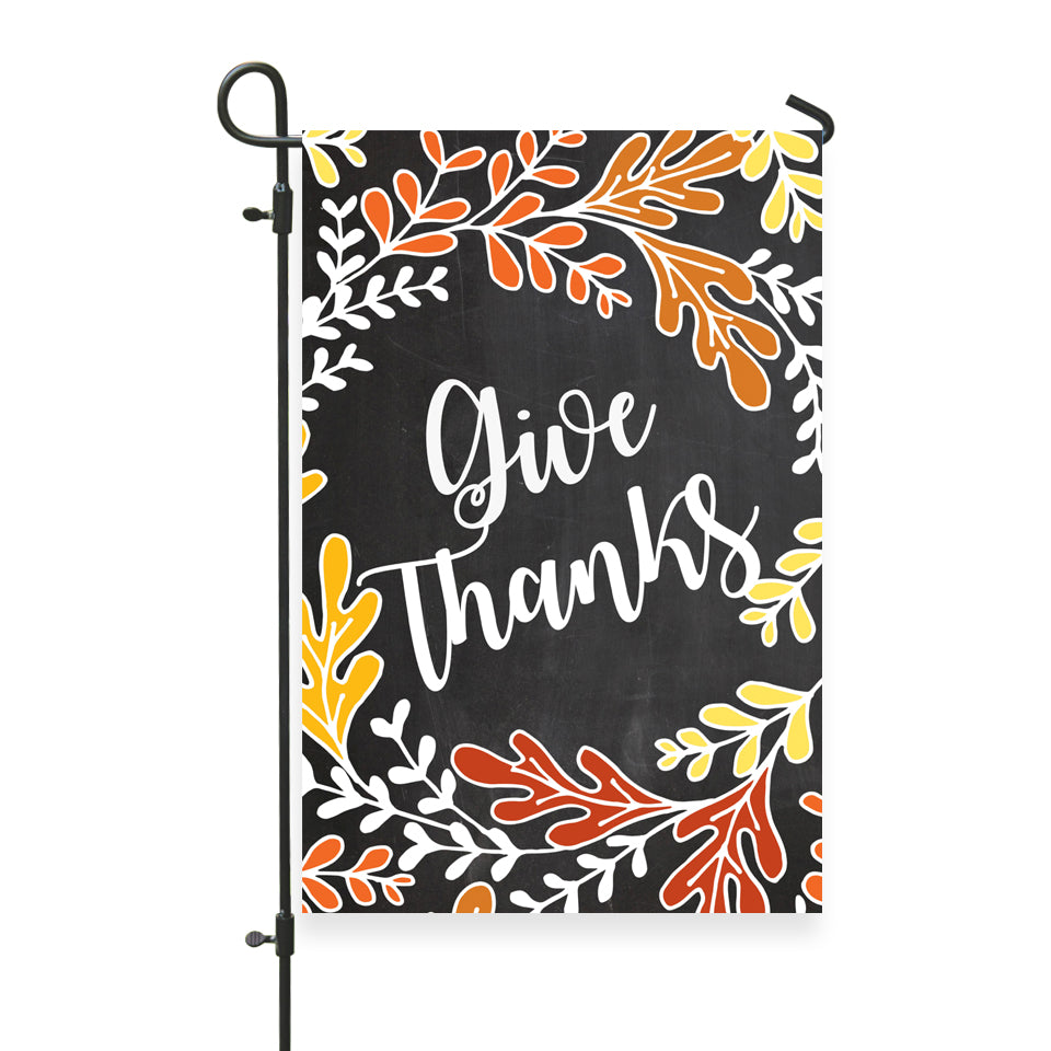 "Give Thanks Garden Flag 12"" x 18"" - Second East"