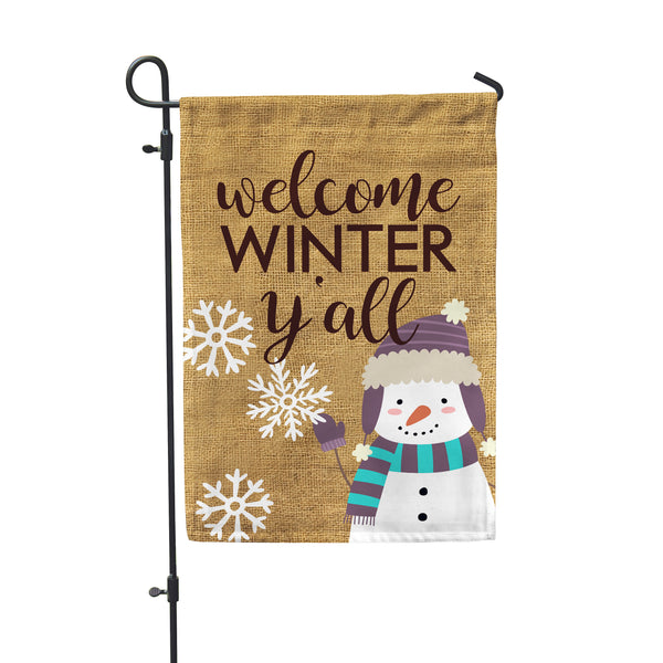 Welcome Winter Y'all Garden Flag - Double Sided - Second East