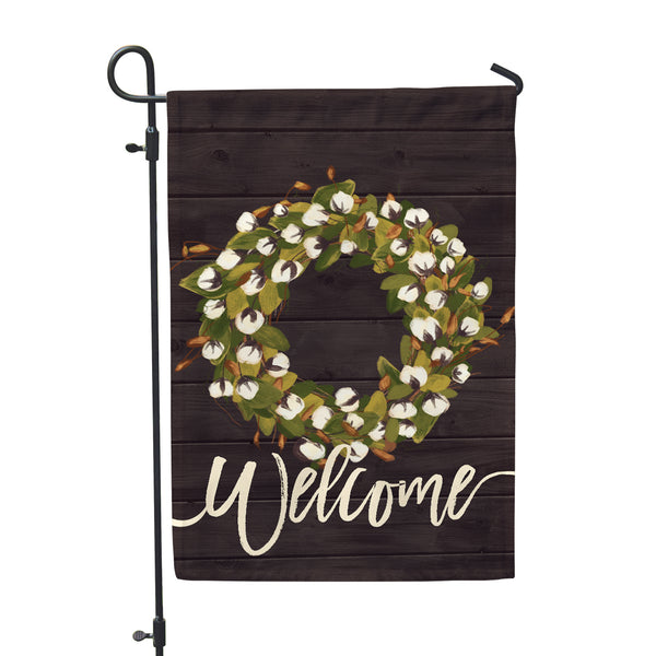 Welcome Cotton Farmhouse Garden Flag - Double Sided - Second East