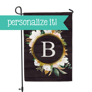 "Personalized Garden Flag - Initial Cotton Home - 12"" x 18"" - Second East"