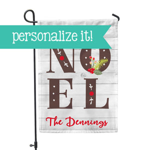 "Personalized Garden Flag - Noel Custom Flag - 12"" x 18"" - Second East"