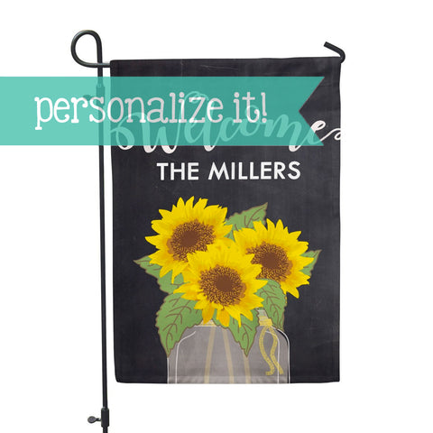 "Personalized Garden Flag - Sunflower Custom Yard Flag - 12"" x 18"" - Second East"