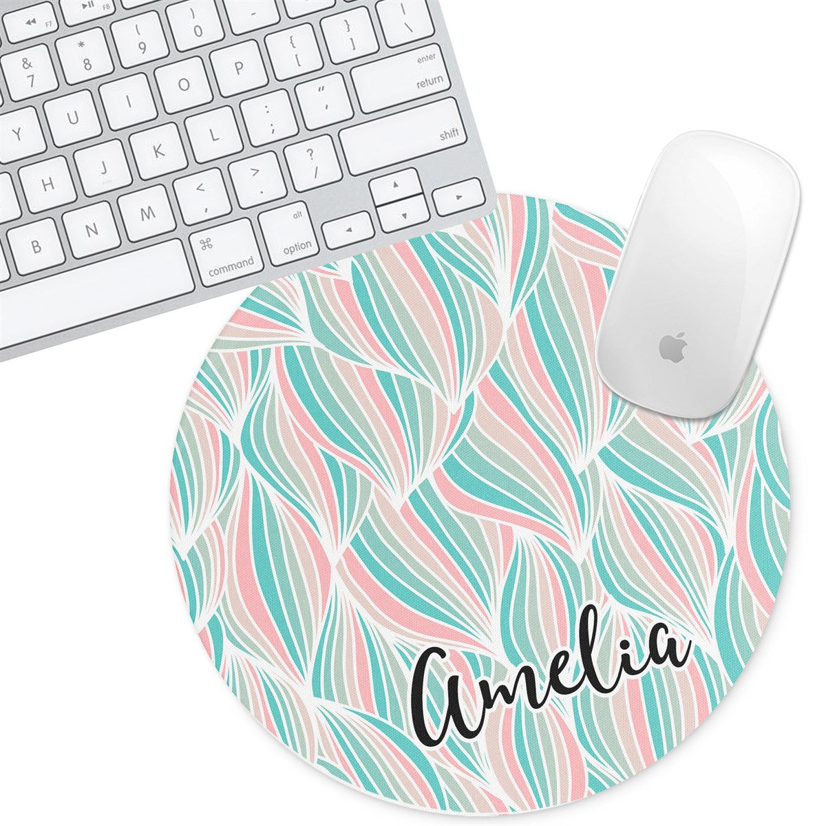 Personalized Round Mouse Pad - Amelia - Second East