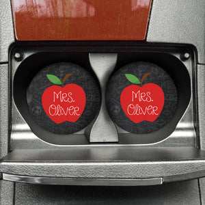 Custom Apple Chalk Sandstone Coaster - FREE SHIPPING - Second East