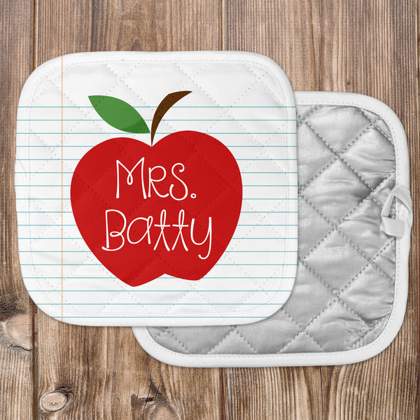 Personalized Apple Notepad Hot Pad - Second East