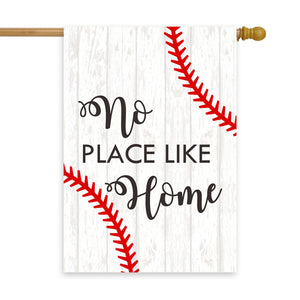 "No Place Like Home Baseball House Flag 28"" x 40"" - Second East"