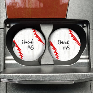 Custom Baseball Sandstone Coaster - FREE SHIPPING - Second East