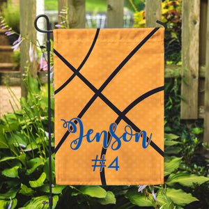 "Personalized Garden Flag - Basketball Season - 12"" x 18"" - Second East"