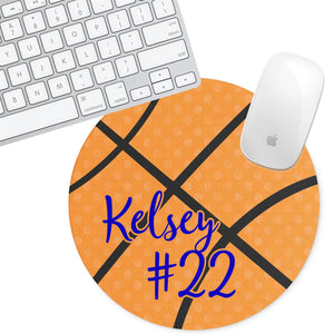 Personalized Round Mouse Pad - Basketball - Second East
